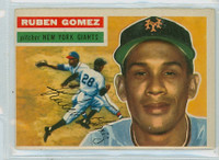 1956 Topps Baseball 9 Ruben Gomez New York Giants Very Good to Excellent Grey Back