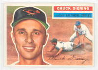 1956 Topps Baseball 19 Chuck Diering Baltimore Orioles Near-Mint Plus White Back