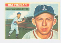 1956 Topps Baseball 22 Jim Finigan Kansas City Athletics Excellent White Back
