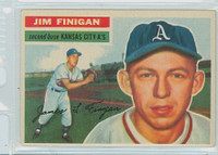 1956 Topps Baseball 22 Jim Finigan Kansas City Athletics Excellent to Excellent Plus White Back