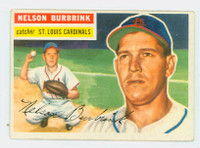 1956 Topps Baseball 27 Nelson Burbrink St. Louis Cardinals Very Good to Excellent Grey Back
