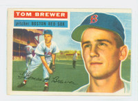 1956 Topps Baseball 34 Tom Brewer Boston Red Sox Very Good to Excellent White Back
