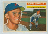 1956 Topps Baseball 51 Ernie Oravetz Washington Senators Excellent to Mint