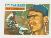 1956 Topps Baseball 55 Wally Moon St. Louis Cardinals Excellent to Mint White Back