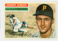 1956 Topps Baseball 65 Johnny O' Brien Pittsburgh Pirates Excellent to Mint Grey Back