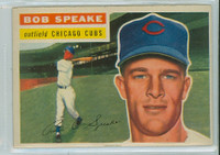 1956 Topps Baseball 66 Bob Speake Chicago Cubs Very Good to Excellent Grey Back
