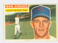 1956 Topps Baseball 66 Bob Speake Chicago Cubs Excellent White Back