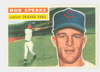 1956 Topps Baseball 66 Bob Speake Chicago Cubs Excellent to Mint White Back