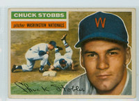 1956 Topps Baseball 68 Chuck Stobbs Washington Senators Very Good to Excellent White Back