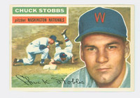 1956 Topps Baseball 68 Chuck Stobbs Washington Senators Excellent to Mint White Back