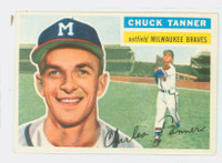 1956 Topps Baseball 69 Chuck Tanner Milwaukee Braves Excellent to Mint White Back