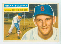 1956 Topps Baseball 71 Frank Sullivan Boston Red Sox Excellent White Back
