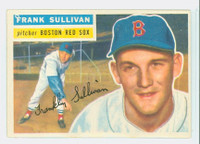 1956 Topps Baseball 71 Frank Sullivan Boston Red Sox Excellent to Mint White Back