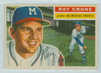 1956 Topps Baseball 76 Ray Crone Milwaukee Braves Excellent White Back