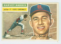 1956 Topps Baseball 77 Harvey Haddix St. Louis Cardinals Excellent to Mint White Back