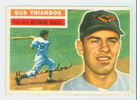 1956 Topps Baseball 80 Gus Triandos Baltimore Orioles Excellent Grey Back