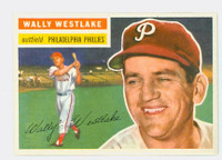 1956 Topps Baseball 81 Wally Westlake Philadelphia Phillies Excellent to Mint Grey Back