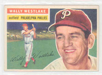 1956 Topps Baseball 81 Wally Westlake Philadelphia Phillies Excellent to Mint White Back
