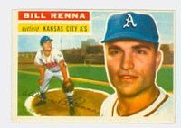 1956 Topps Baseball 82 Bill Renna Kansas City Athletics Excellent Grey Back