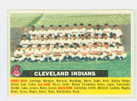 1956 Topps Baseball 85 b Indians Team CENTER  Excellent Grey Back