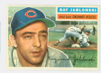 1956 Topps Baseball 86 Ray Jablonski Cincinnati Reds Very Good to Excellent Grey Back