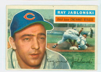1956 Topps Baseball 86 Ray Jablonski Cincinnati Reds Excellent Grey Back