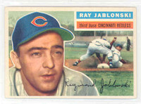 1956 Topps Baseball 86 Ray Jablonski Cincinnati Reds Excellent to Mint White Back