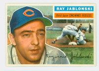 1956 Topps Baseball 86 Ray Jablonski Cincinnati Reds Excellent to Mint Grey Back