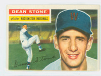 1956 Topps Baseball 87 Dean Stone Washington Senators Very Good to Excellent White Back
