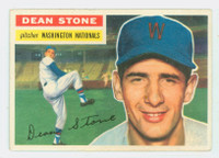 1956 Topps Baseball 87 Dean Stone Washington Senators Excellent to Mint Grey Back