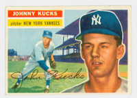 1956 Topps Baseball 88 Johnny Kucks New York Yankees Excellent to Excellent Plus White Back
