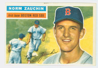 1956 Topps Baseball 89 Norm Zauchin Boston Red Sox Excellent White Back
