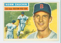 1956 Topps Baseball 89 Norm Zauchin Boston Red Sox Excellent to Mint White Back