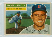 1956 Topps Baseball 93 George Susce Boston Red Sox Excellent to Excellent Plus White Back