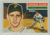 1956 Topps Baseball 94 Ron Kline Pittsburgh Pirates Very Good to Excellent White Back