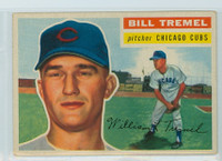 1956 Topps Baseball 96 Bill Tremel Chicago Cubs Very Good to Excellent Grey Back