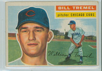 1956 Topps Baseball 96 Bill Tremel Chicago Cubs Very Good to Excellent White Back