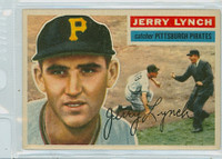 1956 Topps Baseball 97 Jerry Lynch Pittsburgh Pirates Excellent to Excellent Plus White Back