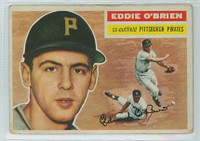 1956 Topps Baseball 116 Eddie O' Brien Pittsburgh Pirates Very Good White Back