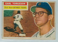 1956 Topps Baseball 147 Earl Torgeson Detroit Tigers Very Good White Back