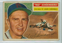 1956 Topps Baseball 165 Red Schoendienst St. Louis Cardinals Very Good Grey Back