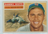 1956 Topps Baseball 168 Sammy White Boston Red Sox Good to Very Good White Back