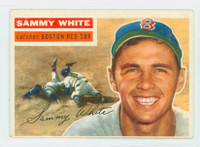 1956 Topps Baseball 168 Sammy White Boston Red Sox Very Good to Excellent Grey Back