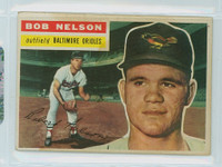 1956 Topps Baseball 169 Bob Nelson Baltimore Orioles Very Good White Back
