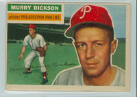 1956 Topps Baseball 211 Murry Dickson Tough Series Philadelphia Phillies Very Good