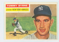 1956 Topps Baseball 215 Tommy Byrne Tough Series New York Yankees Very Good to Excellent