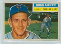 1956 Topps Baseball 227 Russ Meyer Tough Series Chicago Cubs Very Good