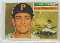 1956 Topps Baseball 232 Toby Atwell Tough Series Pittsburgh Pirates Very Good to Excellent