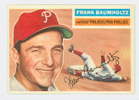 1956 Topps Baseball 274 Frank Baumholtz Philadelphia Phillies Excellent to Mint