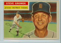 1956 Topps Baseball 310 Steve Gromek Detroit Tigers Very Good to Excellent